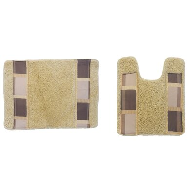 Madison 2 Piece Bath Rug Set Color: Sage