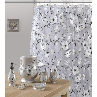 Melrose Shower Curtain Color: Gray