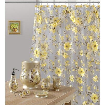 Melrose Shower Curtain Color: Yellow