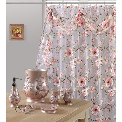 Melrose Shower Curtain Color: Pink