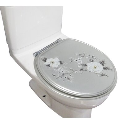Decorative Melrose Round Toilet Seat Finish: Gray