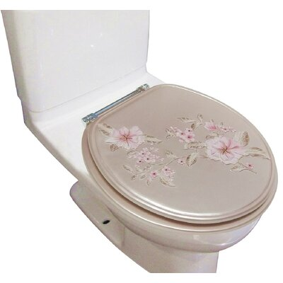Decorative Melrose Round Toilet Seat Finish: Pink