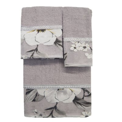 Lys 3 Piece Towel Set Color: Gray