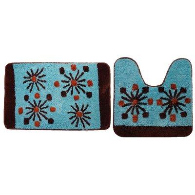 Decorative 2 Piece Bath Rug Set Color: Blue