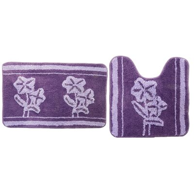 Denis Purple 2 Piece Bath Mat