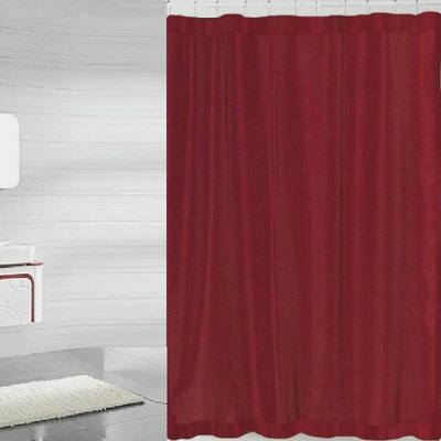 Andrade Shower Liner Color: Burgundy
