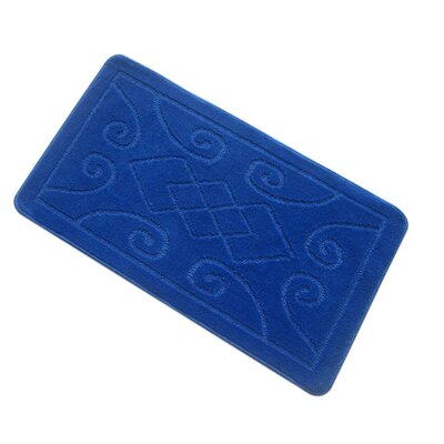 Spartansburg Spa Bath Rug Size: Large, Color: Blue