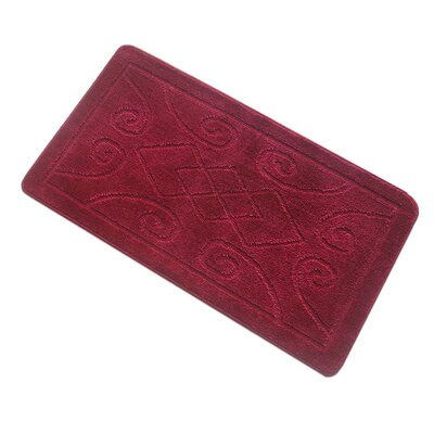 Spartansburg Spa Bath Rug Size: Large, Color: Burgundy