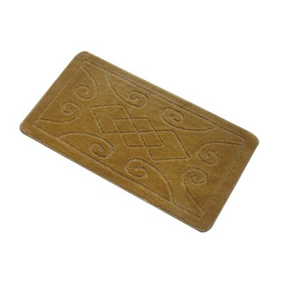 Spartansburg Spa Bath Rug Size: Medium, Color: Gold