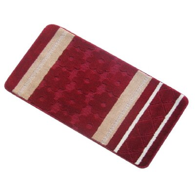 Austintown Bath Rug Color: Burgundy, Size: Large