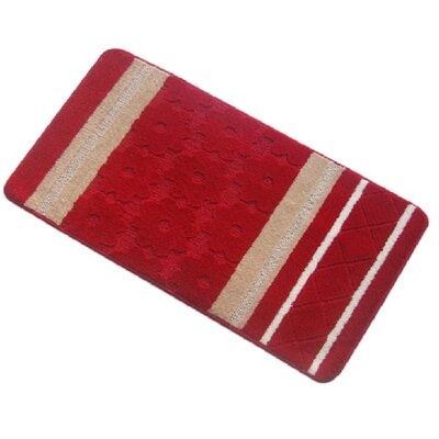 Austintown Bath Rug Size: Medium, Color: Red