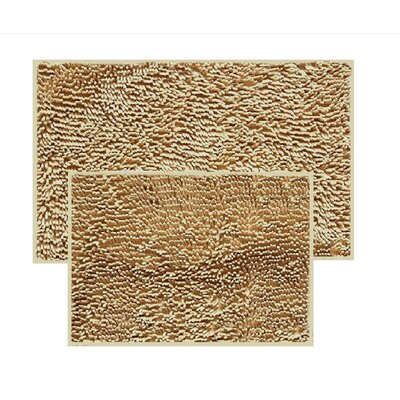 2 Piece Chenille Bath Rug Set Color: Taupe