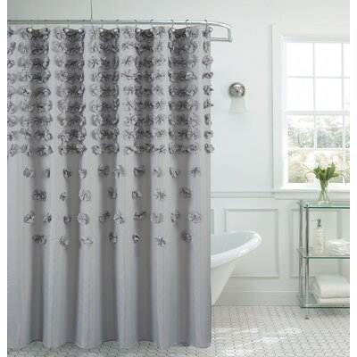 Hornyak Shower Curtain Color: Silver