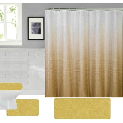 Spring Shower Curtain Set Color: Beige
