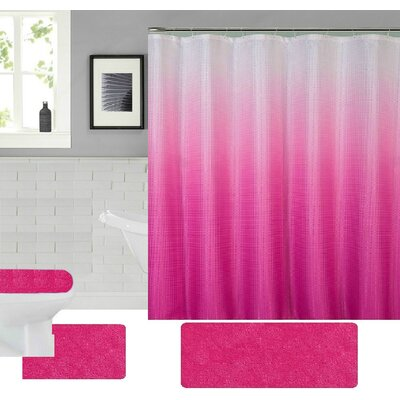 Spring Shower Curtain Set Color: Pink