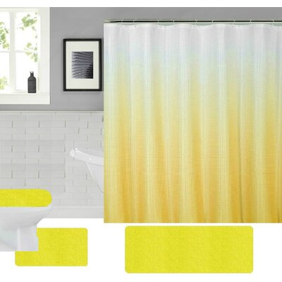 Spring Shower Curtain Set Color: Yellow