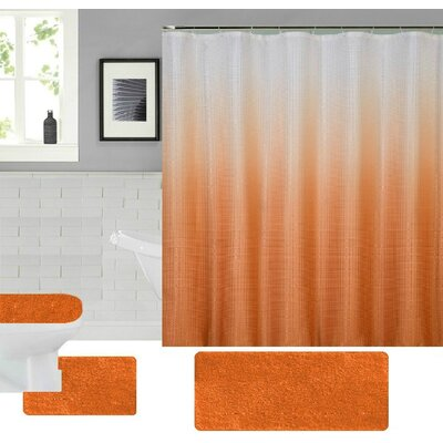 Spring Shower Curtain Set Color: Orange