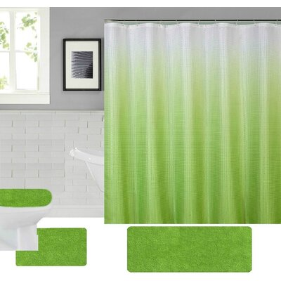 Spring Shower Curtain Set Color: Green