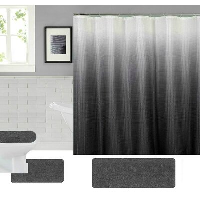 Spring Shower Curtain Set Color: Gray