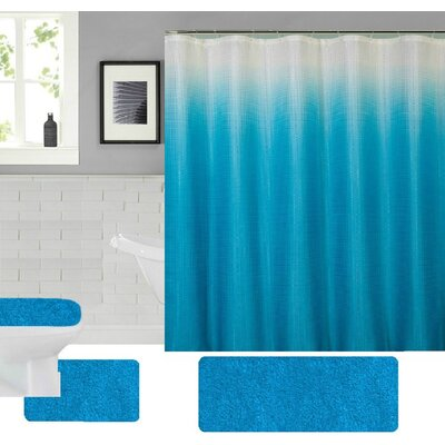 Spring Shower Curtain Set Color: Turquoise