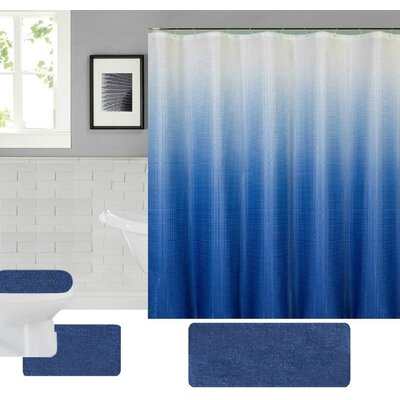 Spring Shower Curtain Set Color: Blue