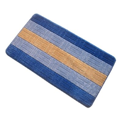 Barbosa Spa Bath Rug Size: 20W x 32L, Color: Navy Blue