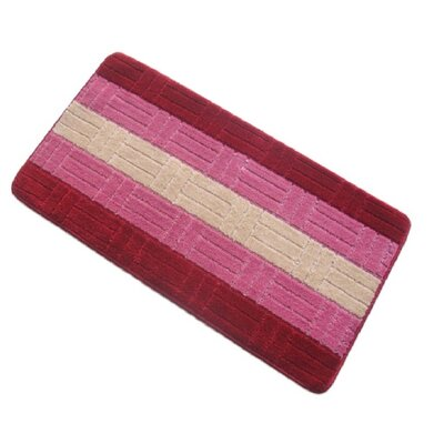 Barbosa Spa Bath Rug Size: 20W x 32L, Color: Burgundy