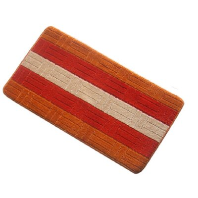 Barbosa Spa Bath Rug Size: 24W x 54L, Color: Orange