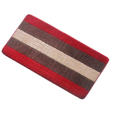 Barbosa Spa Bath Rug Size: 24W x 54L, Color: Red