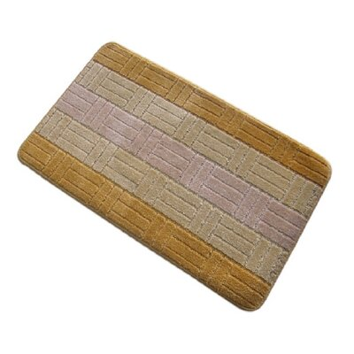 Barbosa Spa Bath Rug Size: 24W x 54L, Color: Gold