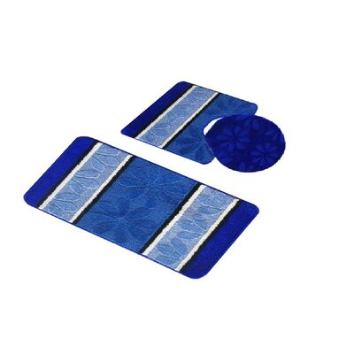 Torri 3 Piece Bath Rug Set Color: Navy Blue