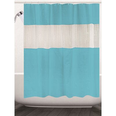 Albaugh Peva Shower Curtain Color: Aqua