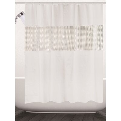 Albaugh Peva Shower Curtain Color: White