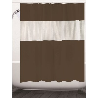 Albaugh Peva Shower Curtain Color: Brown