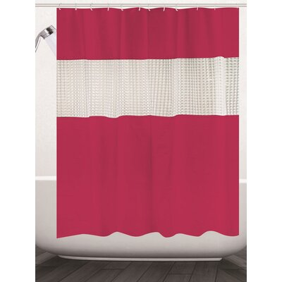 Albaugh Peva Shower Curtain Color: Red