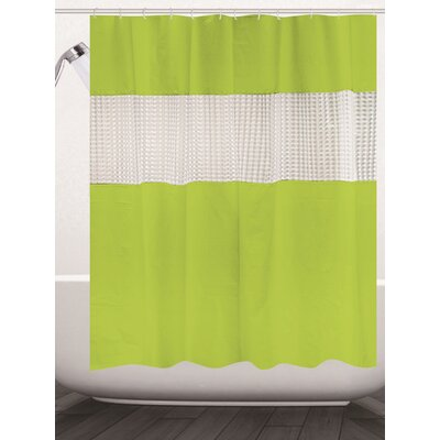 Albaugh Peva Shower Curtain Color: Lime Green