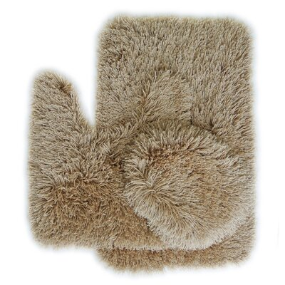 Pesina 3 Piece Bath Rug Set Color: Beige