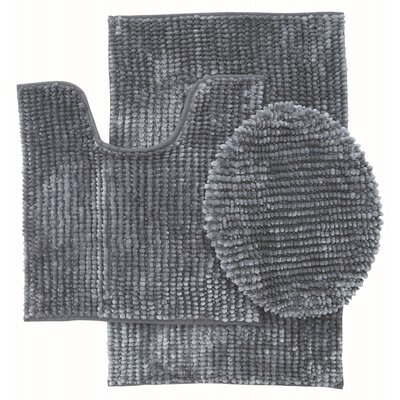 Lokshin Chenille 3 Piece Set Color: Gray