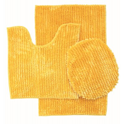 Lokshin Chenille 3 Piece Set Color: Yellow