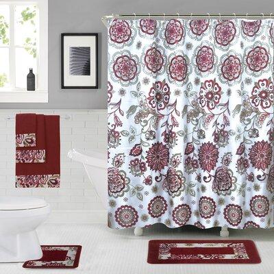 Vaucher Shower Curtain Set Color: Rose