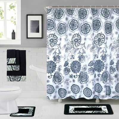 Vaucher Shower Curtain Set Color: Blue