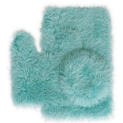Pesina 3 Piece Bath Rug Set Color: Turquoise