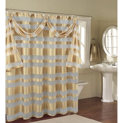 Enciso Decorative Shower Curtain Color: Gold