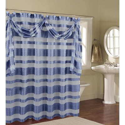 Enciso Decorative Shower Curtain Color: Blue