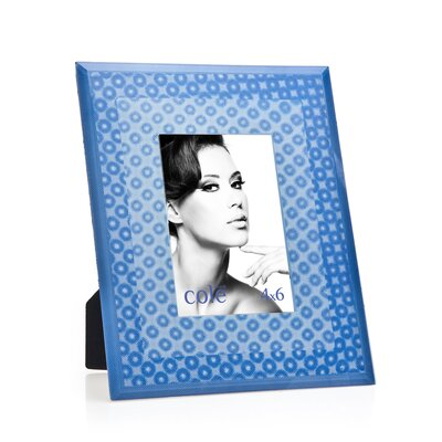3D Circles Picture Frame Color: Blue 20822