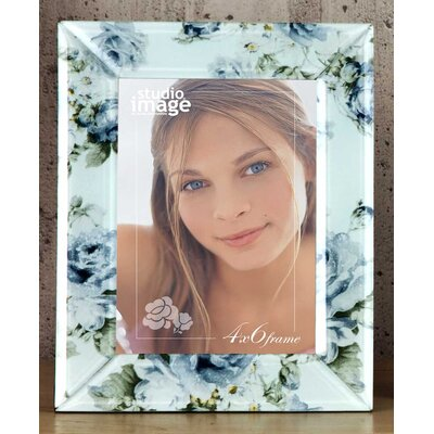 Floral Decal Glass Picture Frame 20426
