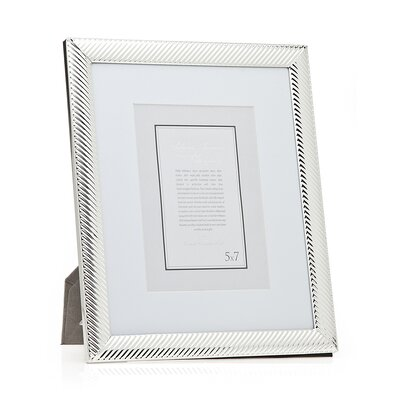 Diagonal Line Picture Frame Size: 8 x 10 Without Mat/5 x 7 With Mat