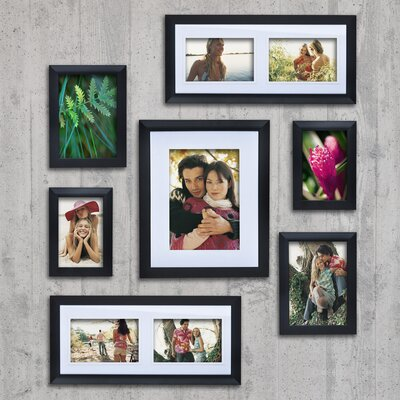 7 Piece Matte Picture Frame Set