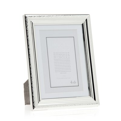 Etched Border Picture Frame Size: 5 x 7 Without Mat/4 x 6 With Mat