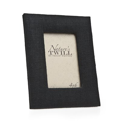 Natures Twill Picture Frame Color: Black 21236